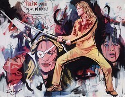 The Bride, Kill Bill  by Zinsky -  sized 41x32 inches. Available from Whitewall Galleries
